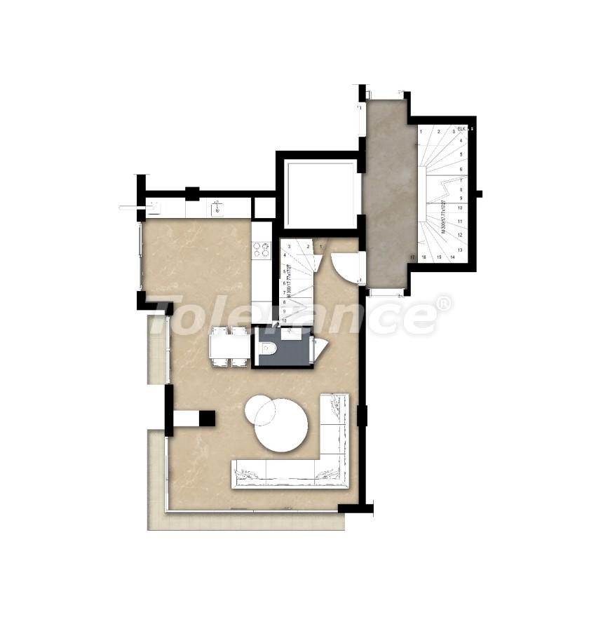 Spacious apartment in Lara, Antalya near the sea - 17678 | Tolerance Homes
