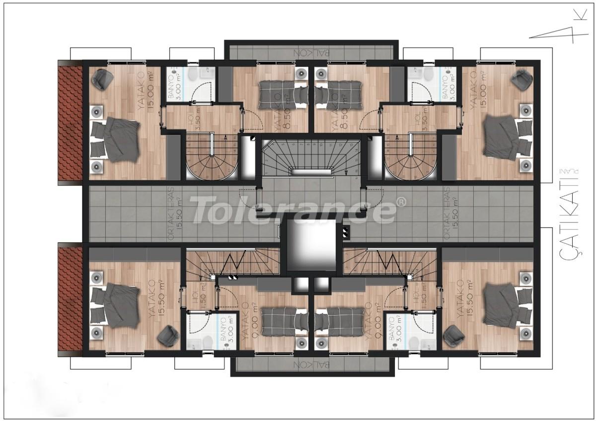 Spacious apartment in Lara, Antalya near the sea - 17676 | Tolerance Homes