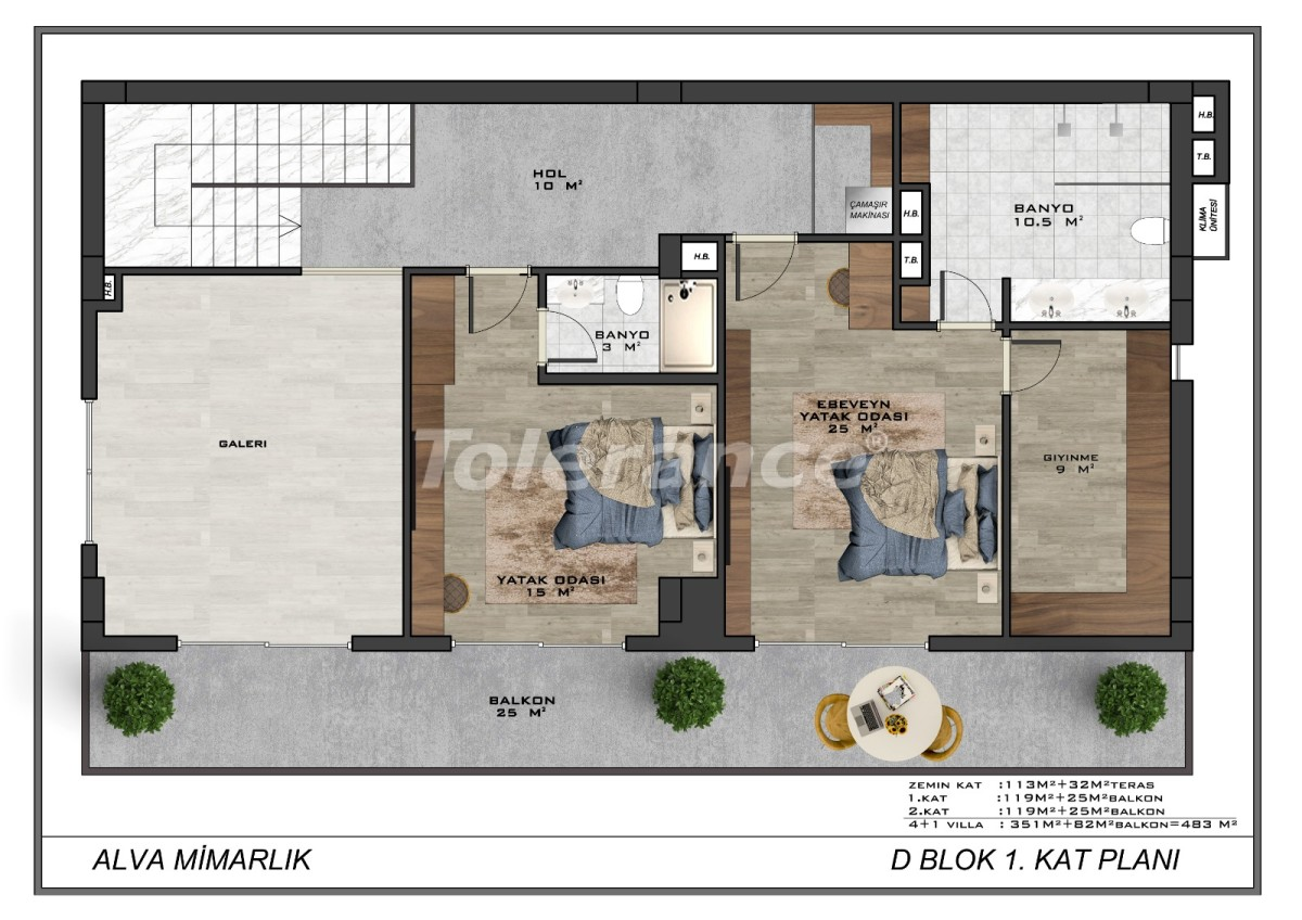 Modern villas in the centre of Alanya with the possibility of obtaining citizenship - 17909   Tolerance Homes