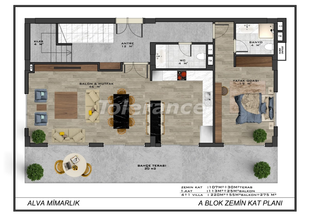 Modern villas in the centre of Alanya with the possibility of obtaining citizenship - 18011   Tolerance Homes