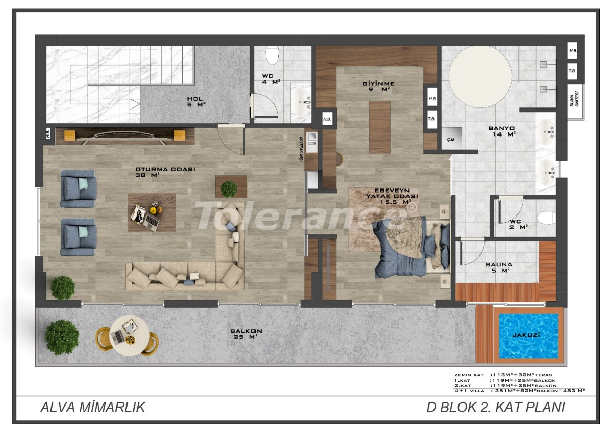 Modern villas in the centre of Alanya with the possibility of obtaining citizenship - 18015   Tolerance Homes