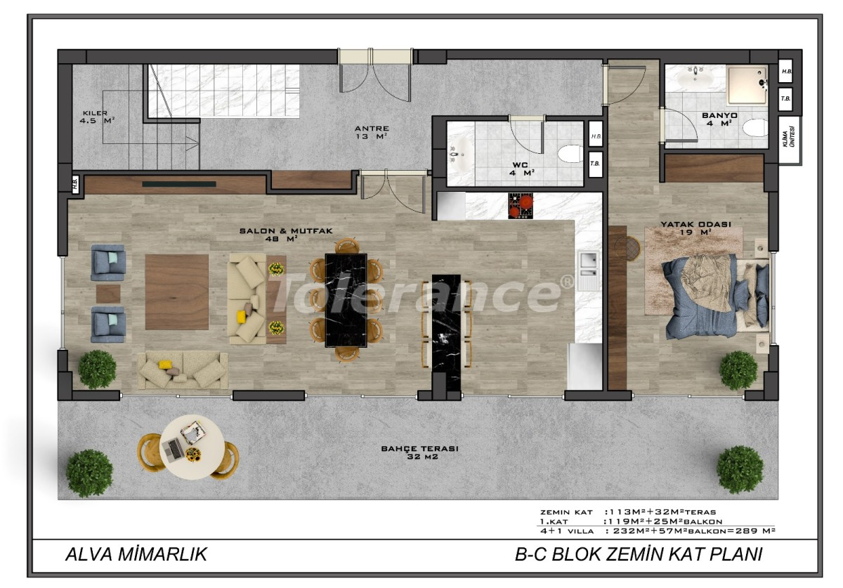 Modern villas in the centre of Alanya with the possibility of obtaining citizenship - 18013   Tolerance Homes