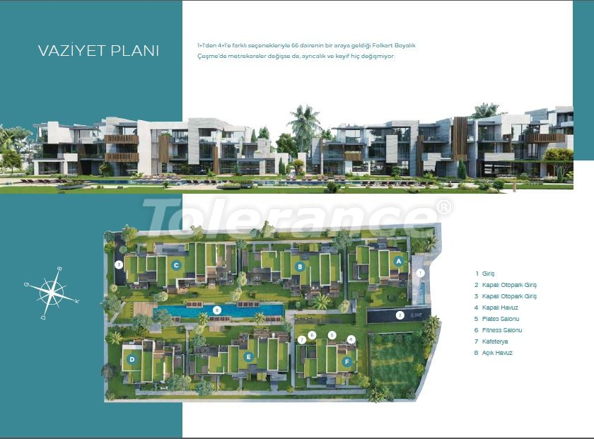 Exclusive apartments in Cesme, Izmir from the best developer with installment up to 1 year near the sea - 17929 | Tolerance Homes