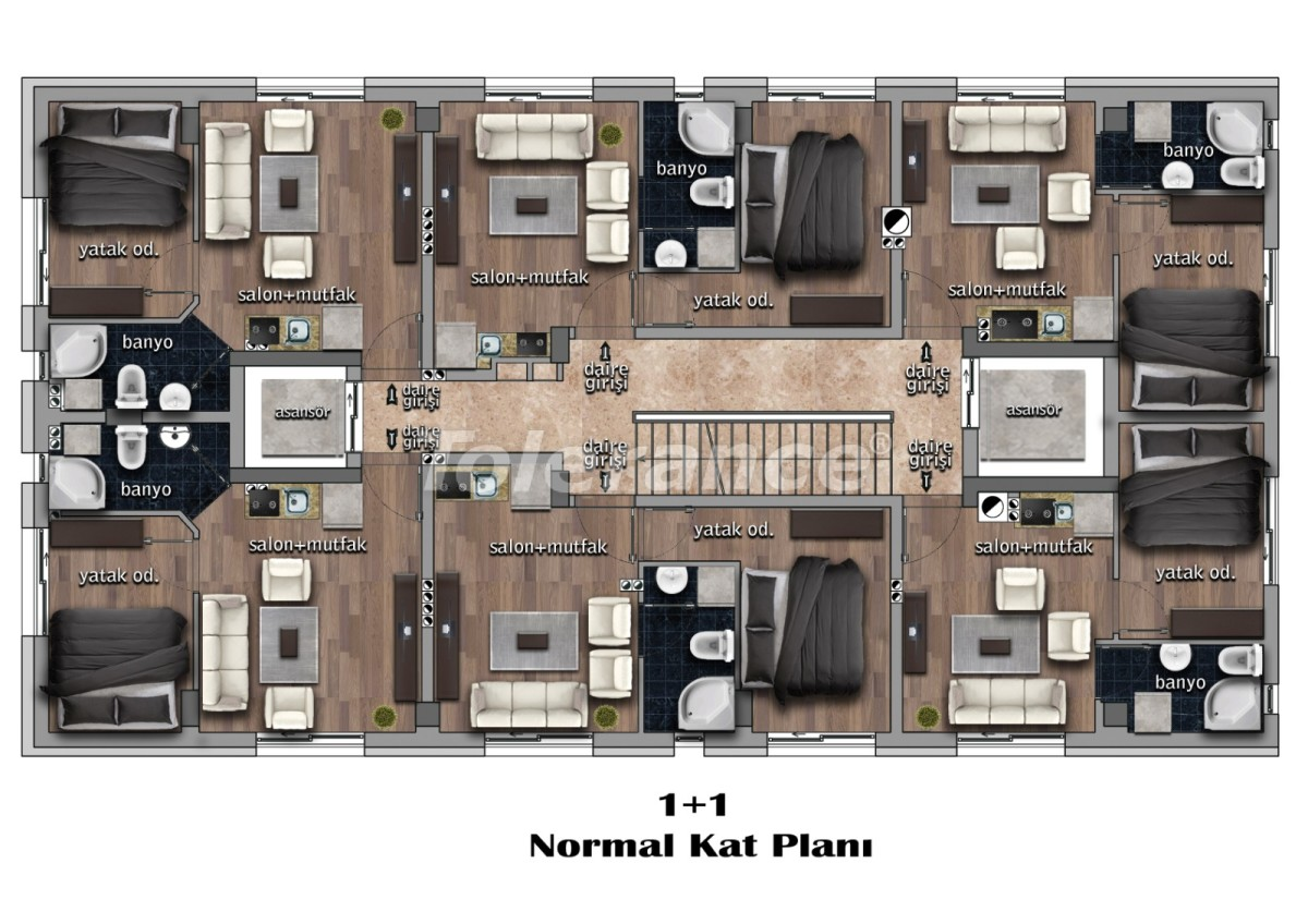 One-bedroom apartments in the city center with installments from the developer - 17994 | Tolerance Homes