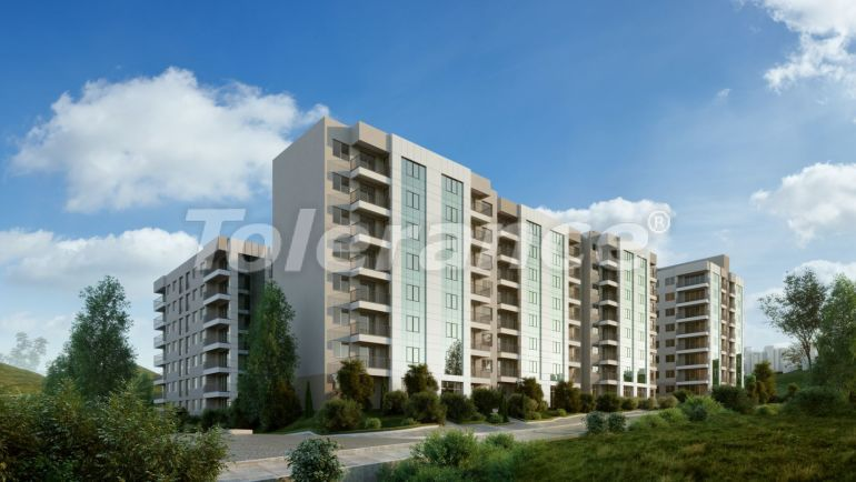 New inexpensive apartments in Izmir with central gas heating in installments - 18822 | Tolerance Homes