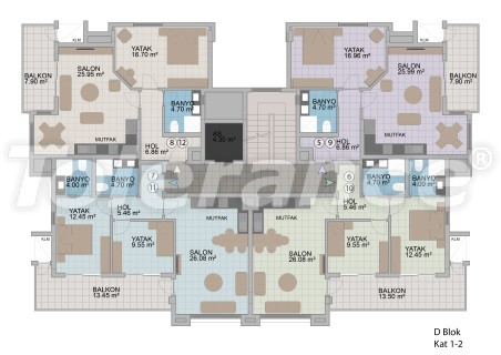 Apartments in Oba in the modern complex from the developer with installments up to 1 year - 18182 | Tolerance Homes
