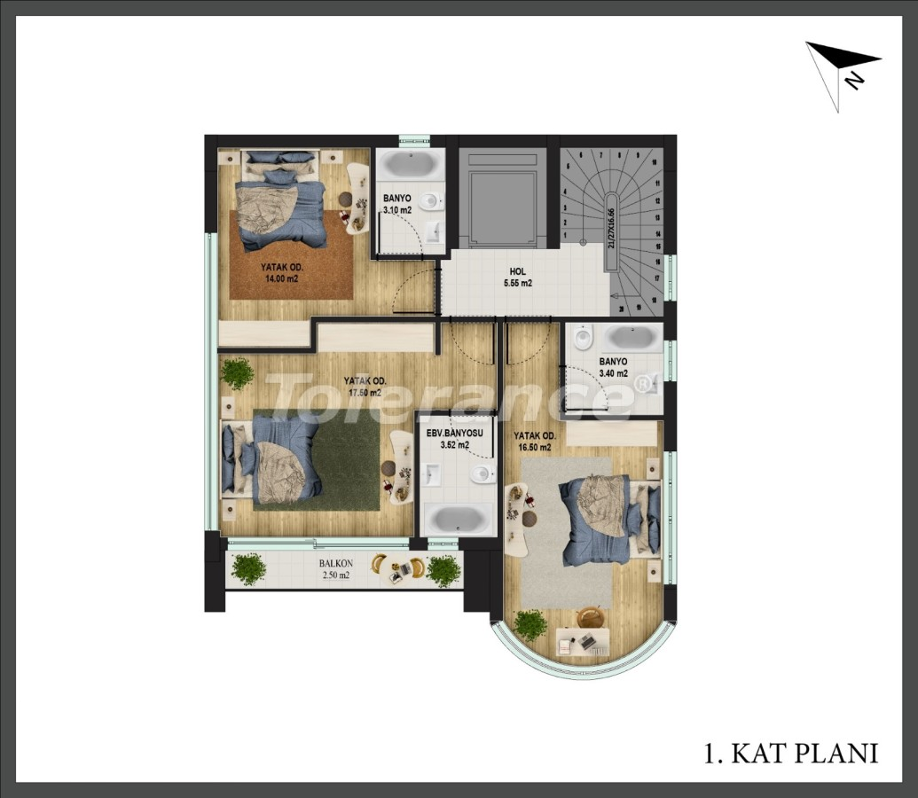 Detached villa in Konyaalti, Antalya with private pool and the possibility of obtaining Turkish citizenship - 18666 | Tolerance Homes