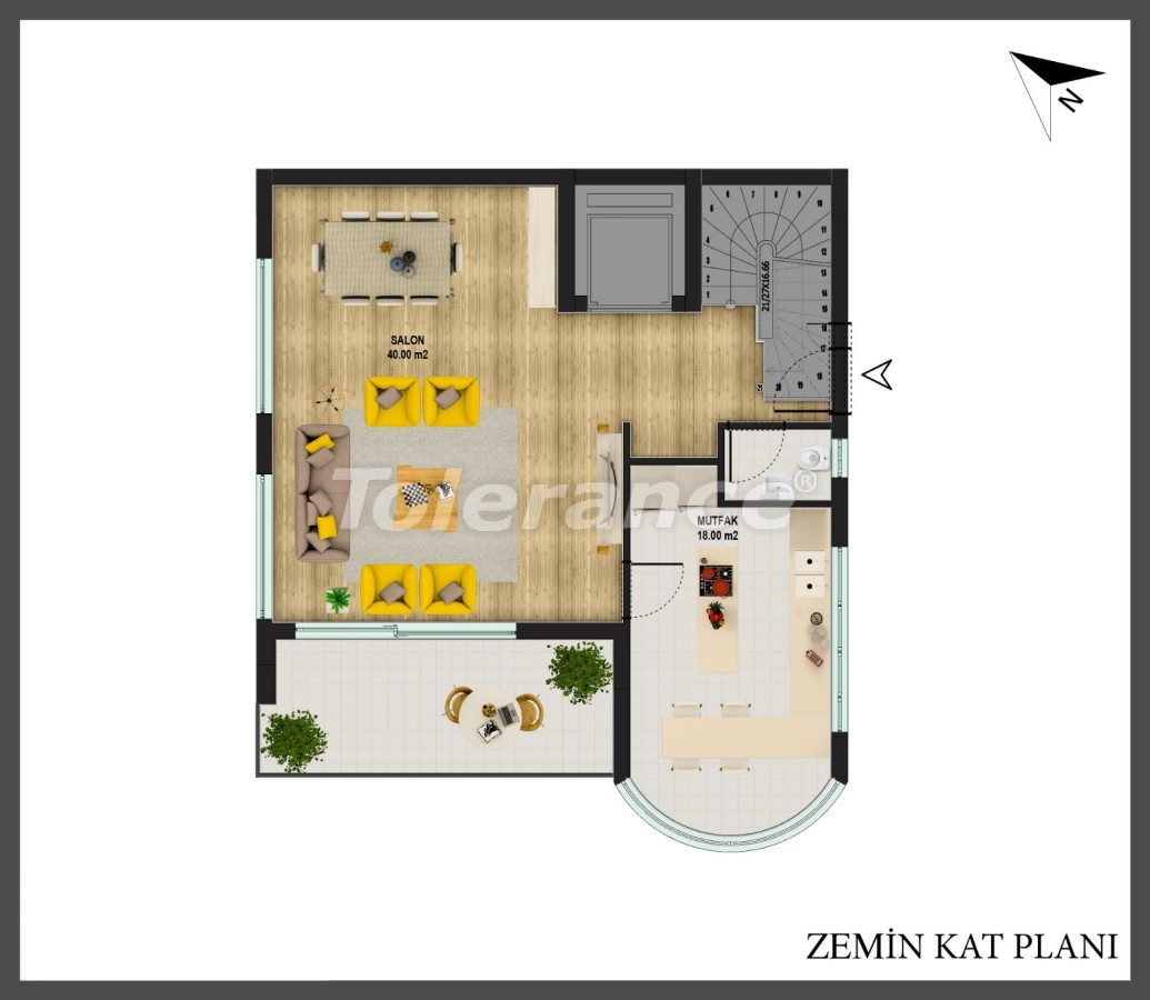 Detached villa in Konyaalti, Antalya with private pool and the possibility of obtaining Turkish citizenship - 18668   Tolerance Homes