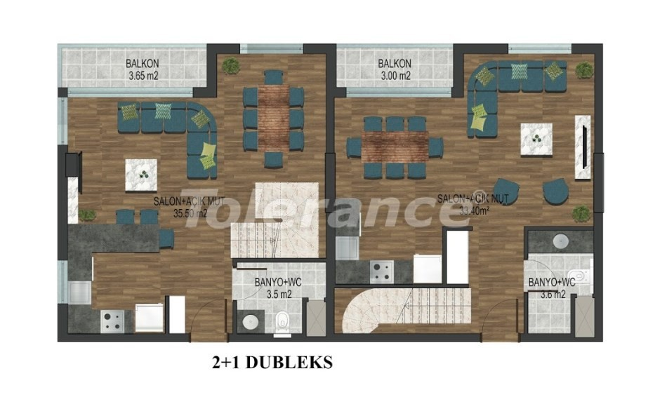 Apartments in Hurma, Konyaalti in a complex with outdoor and indoor pools from the developer - 18292 | Tolerance Homes