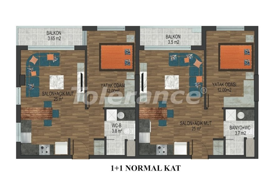 Apartments in Hurma, Konyaalti in a complex with outdoor and indoor pools from the developer - 18289 | Tolerance Homes