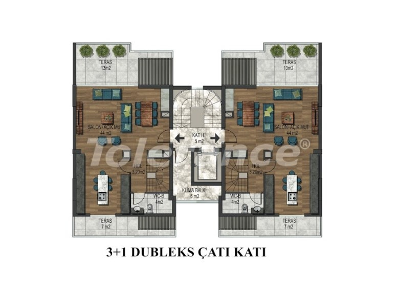 Apartments in Hurma, Konyaalti in a complex with outdoor and indoor pools from the developer - 18294 | Tolerance Homes