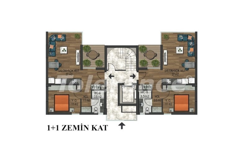 Apartments in Hurma, Konyaalti in a complex with outdoor and indoor pools from the developer - 18290 | Tolerance Homes