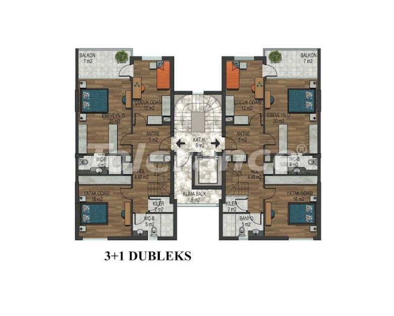 Apartments in Hurma, Konyaalti in a complex with outdoor and indoor pools from the developer - 18295 | Tolerance Homes