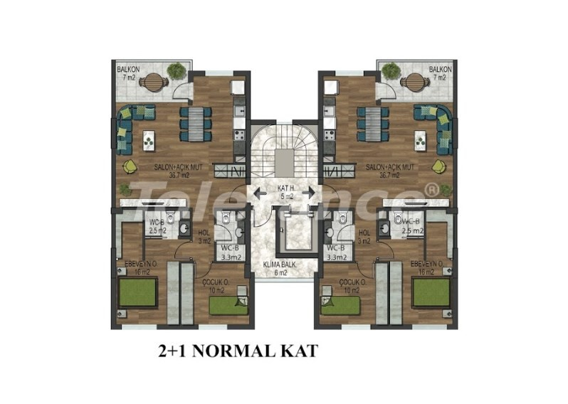 Apartments in Hurma, Konyaalti in a complex with outdoor and indoor pools from the developer - 18293 | Tolerance Homes