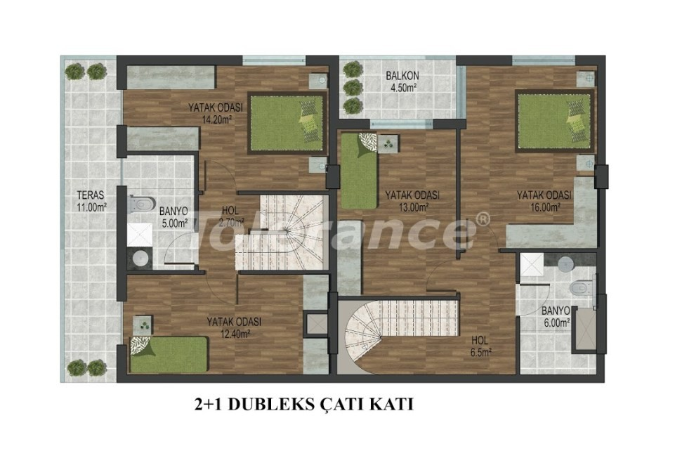 Apartments in Hurma, Konyaalti in a complex with outdoor and indoor pools from the developer - 18291 | Tolerance Homes