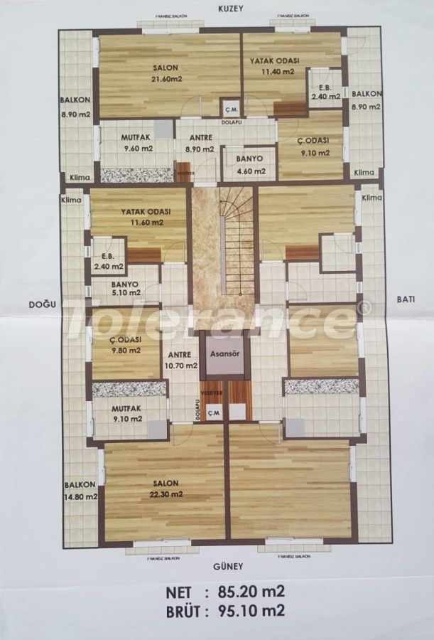 Apartments in Kepez, Antalya from the developer, with gas heating - 19410 | Tolerance Homes