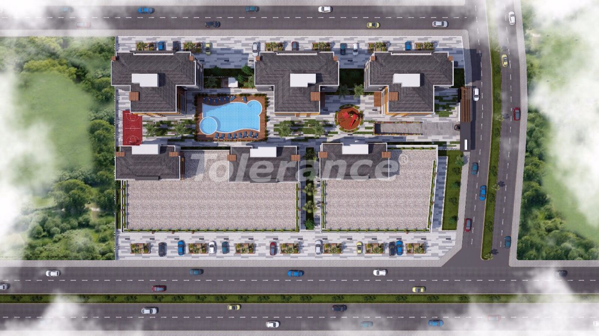Ultramodern apartments in Kepez, Antalya in a complex with a swimming pool - 18934   Tolerance Homes