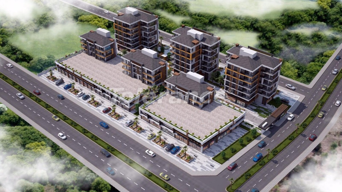Ultramodern apartments in Kepez, Antalya in a complex with a swimming pool - 18933   Tolerance Homes