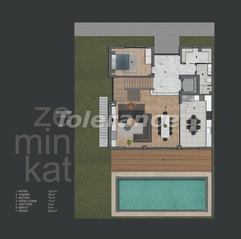 Modern villas in Konyaalti with private pool - 19008 | Tolerance Homes
