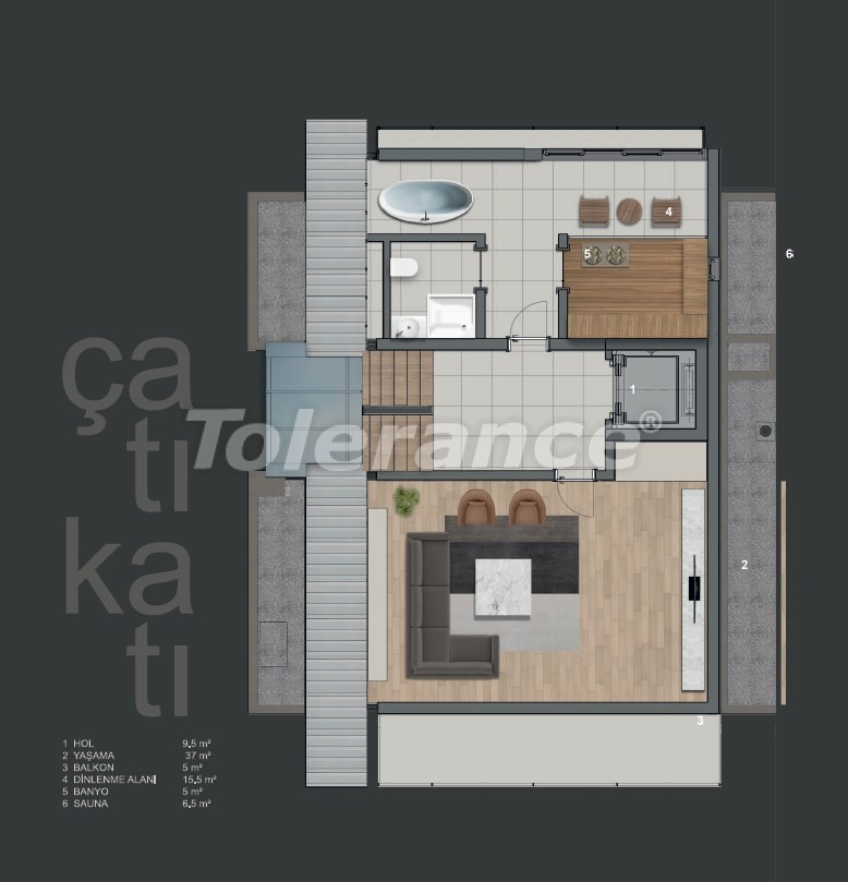 Modern villas in Konyaalti with private pool - 19010 | Tolerance Homes