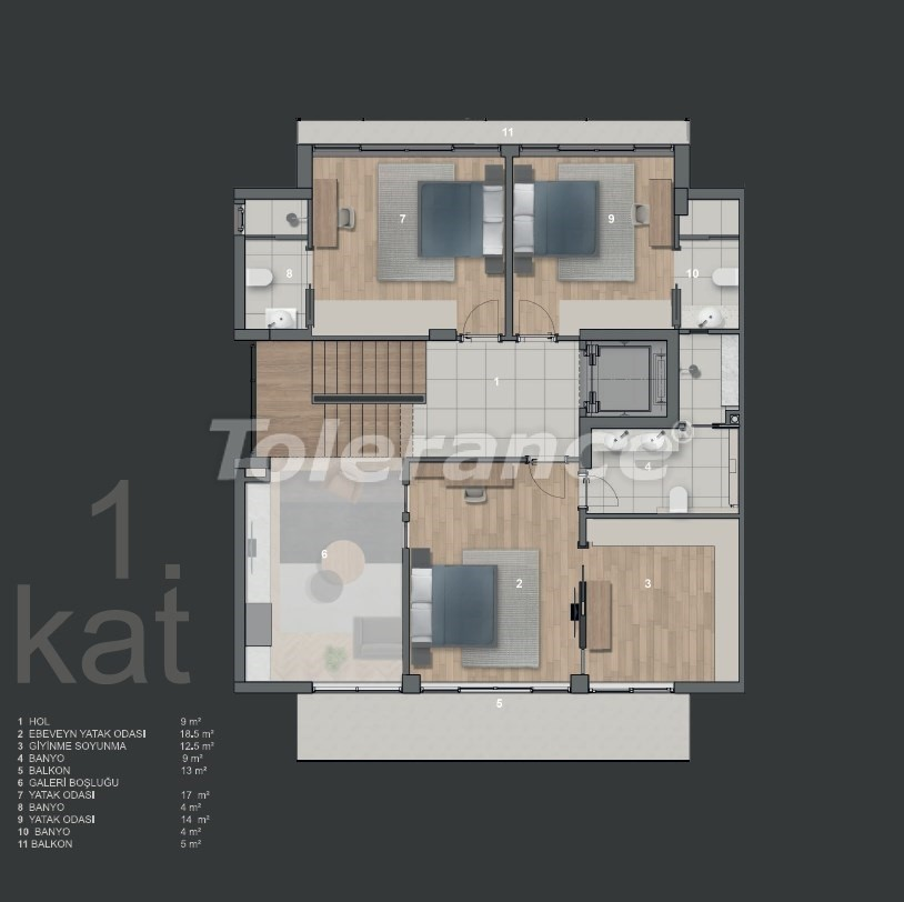 Modern villas in Konyaalti with private pool - 19009 | Tolerance Homes