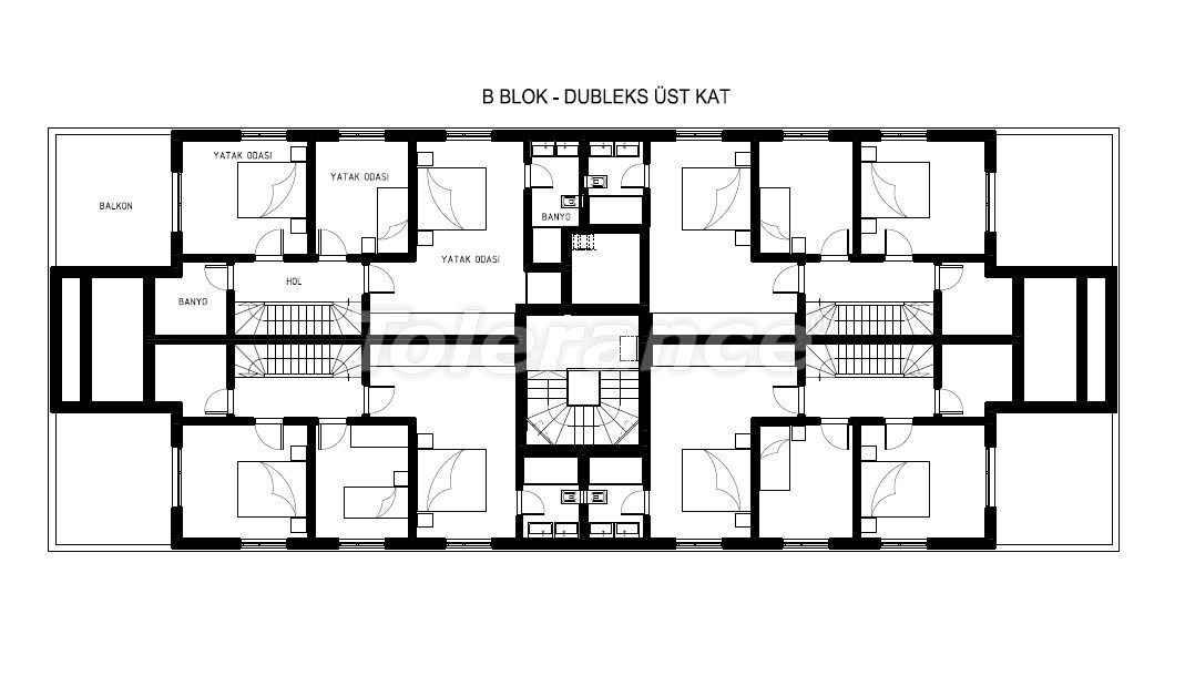 Luxury apartments in Hurma, Konyaalti in a complex with a swimming pool - 19386 | Tolerance Homes