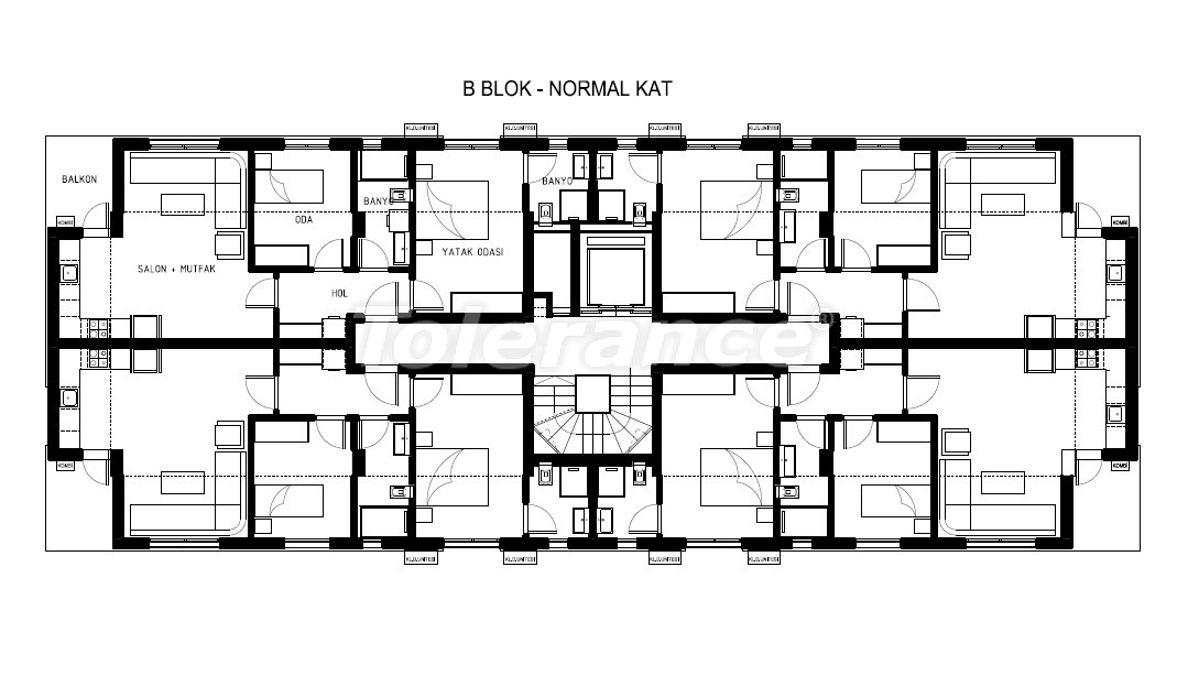 Luxury apartments in Hurma, Konyaalti in a complex with a swimming pool - 19385 | Tolerance Homes
