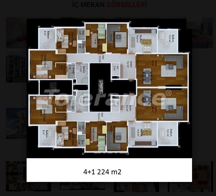 Inexpensive apartments in Trabzon from developer in complex with many facilities - 20033 | Tolerance Homes