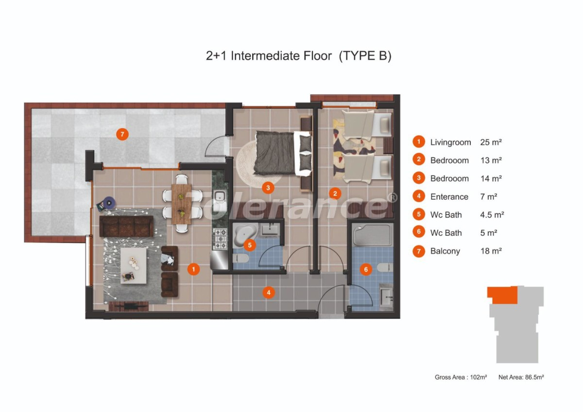 Apartments in Kestel from a reliable developer with installments of up to 1 year near the sea - 20434 | Tolerance Homes