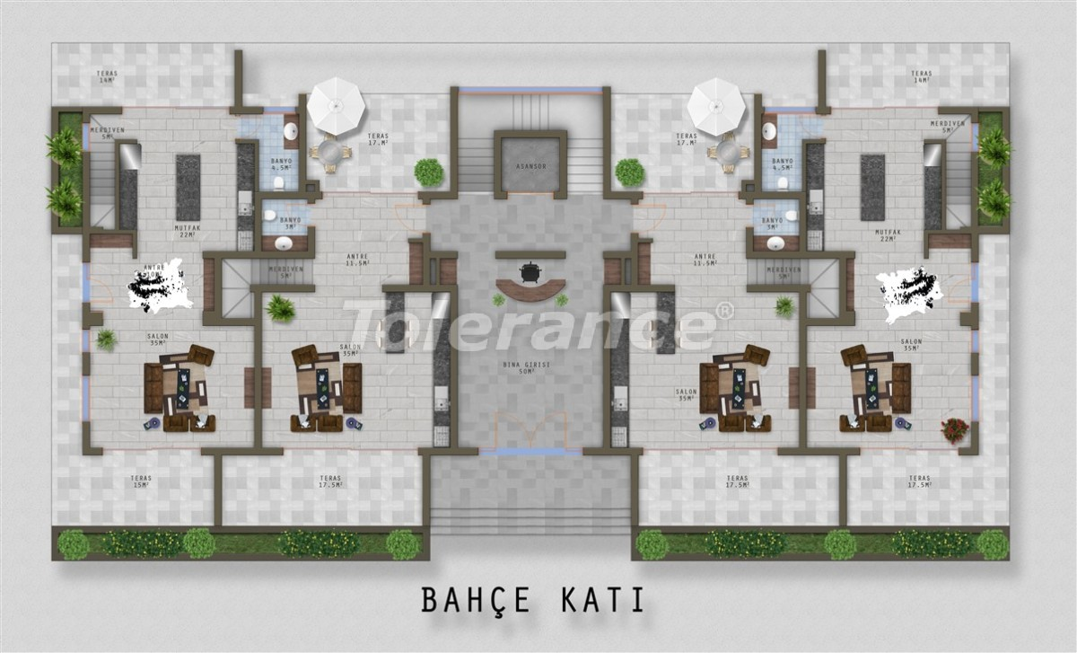 Luxury apartments in Kargicak, Alanya  from one of the best property developers - 20527 | Tolerance Homes