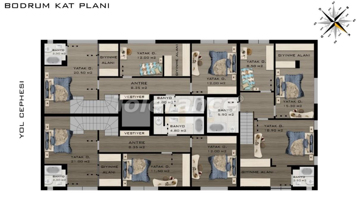 Spacious luxury apartments in Konyaalti, Antalya  near the sea - 20797 | Tolerance Homes
