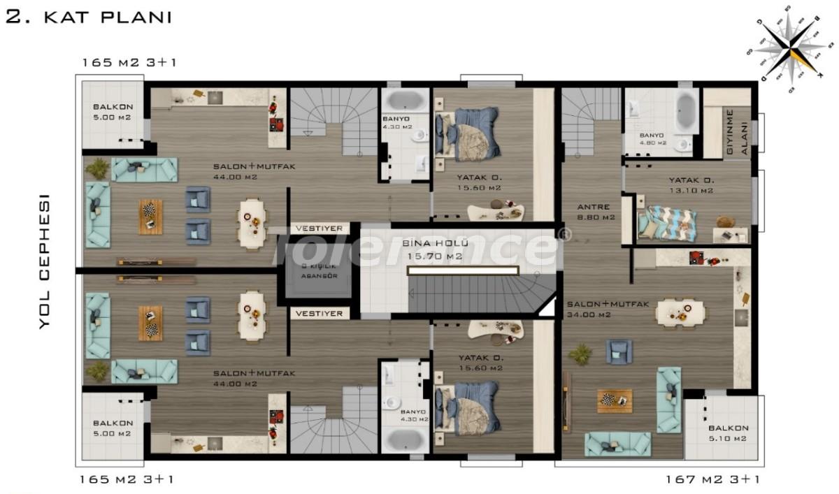 Spacious luxury apartments in Konyaalti, Antalya  near the sea - 20801 | Tolerance Homes