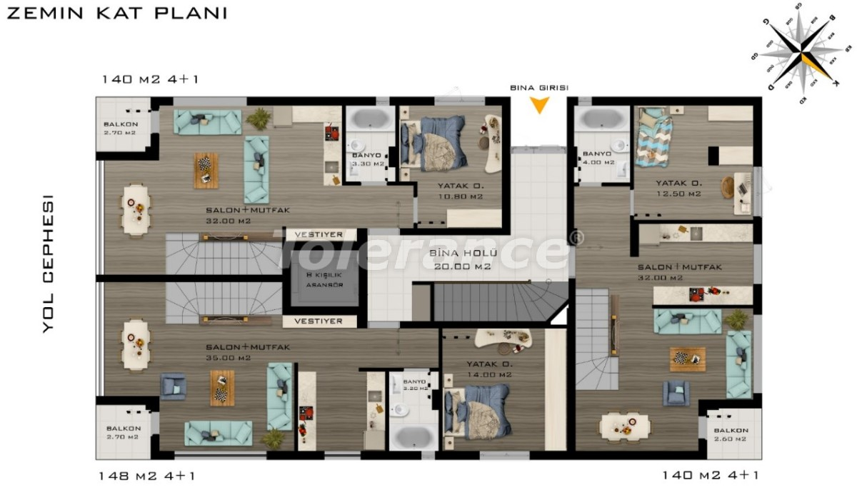 Spacious luxury apartments in Konyaalti, Antalya  near the sea - 20798 | Tolerance Homes