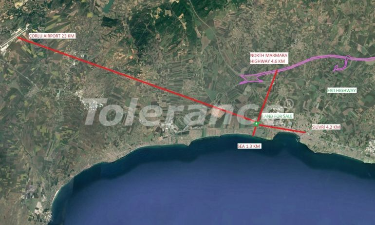 Land plot for construction of residential real estate in Silivri, Istanbul near the sea - 20932 | Tolerance Homes