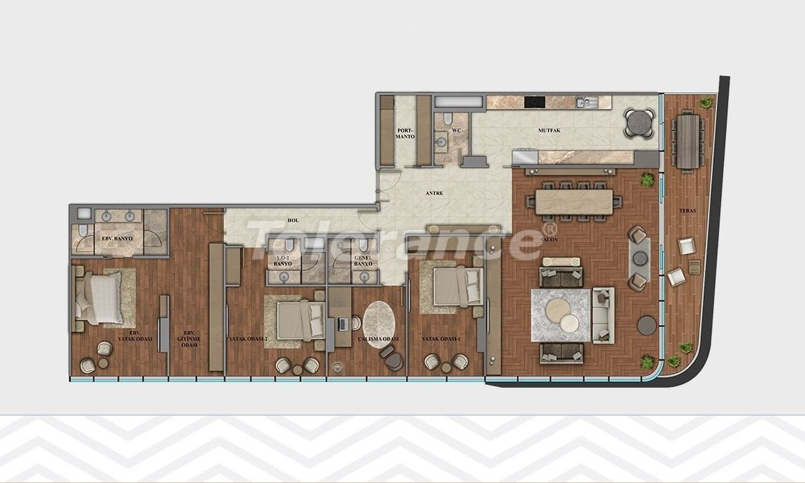Elite apartments in the center of Istanbul in modern complex with possibility of citizenship obtaining - 21114 | Tolerance Homes