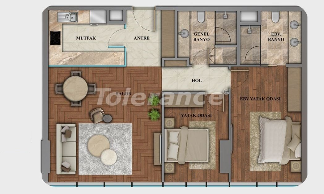 Elite apartments in the center of Istanbul in modern complex with possibility of citizenship obtaining - 21117 | Tolerance Homes