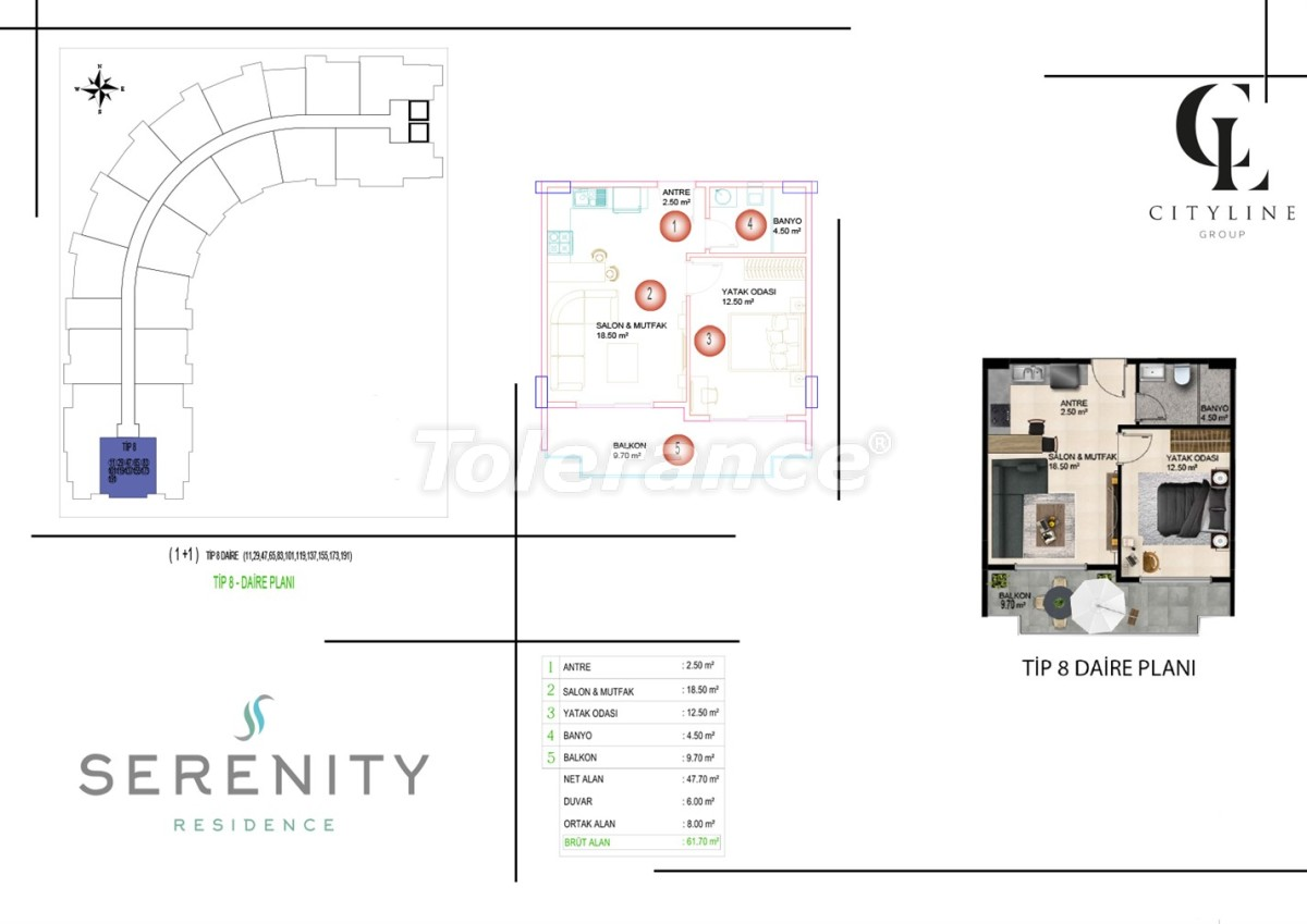 Luxury apartments  in a complex with an outdoor pool, indoor pool, sauna and fitness - 21421   Tolerance Homes