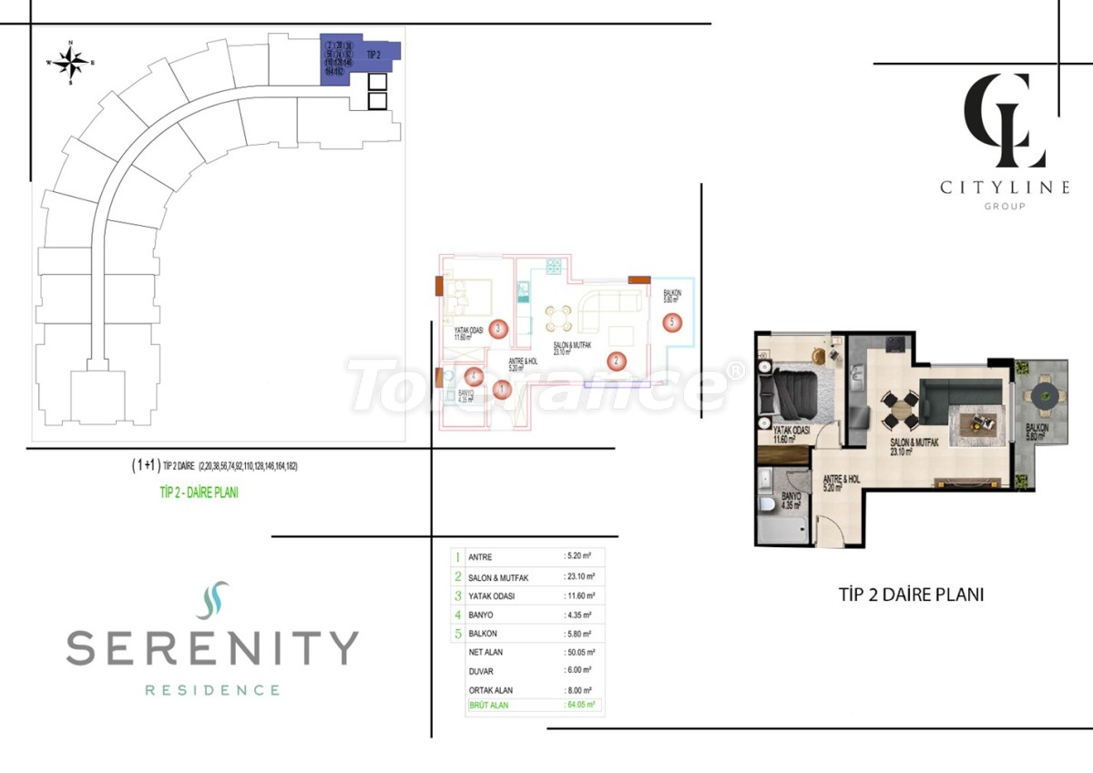 Luxury apartments  in a complex with an outdoor pool, indoor pool, sauna and fitness - 21398   Tolerance Homes