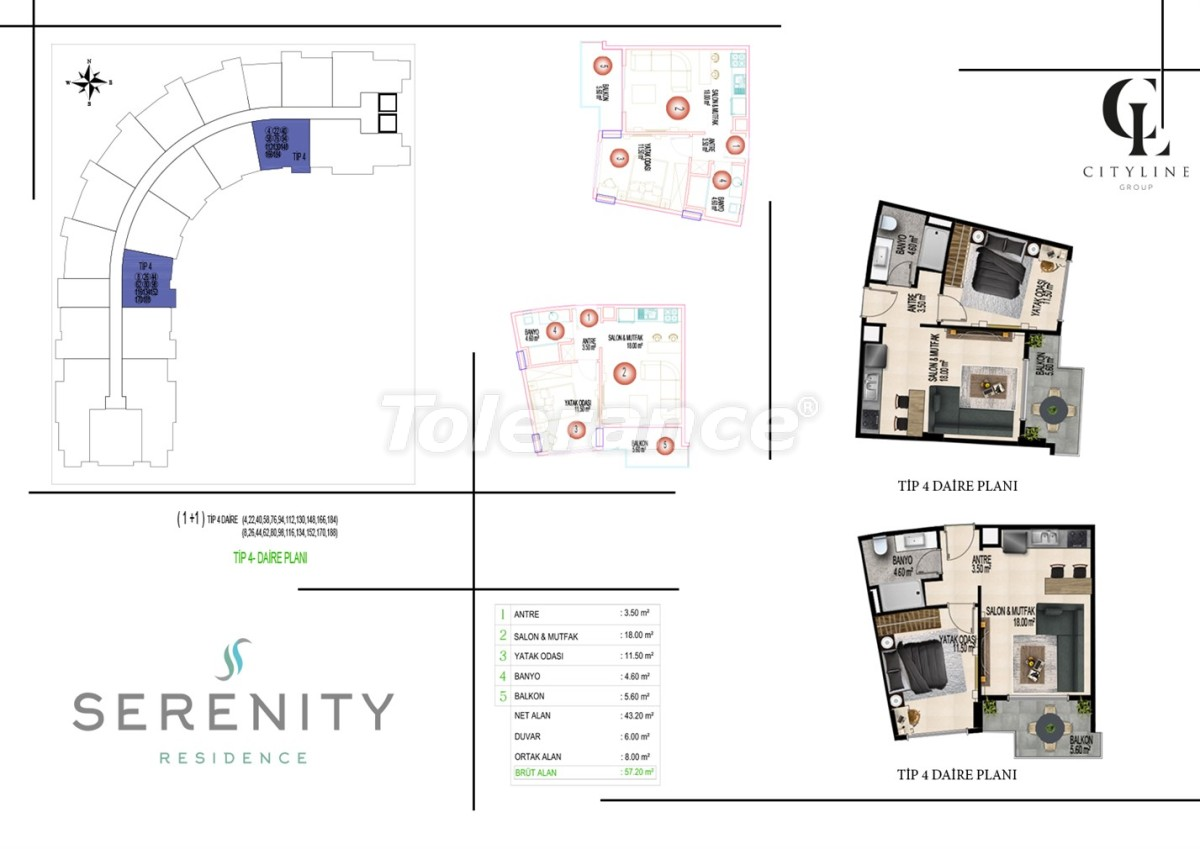 Luxury apartments  in a complex with an outdoor pool, indoor pool, sauna and fitness - 21405   Tolerance Homes
