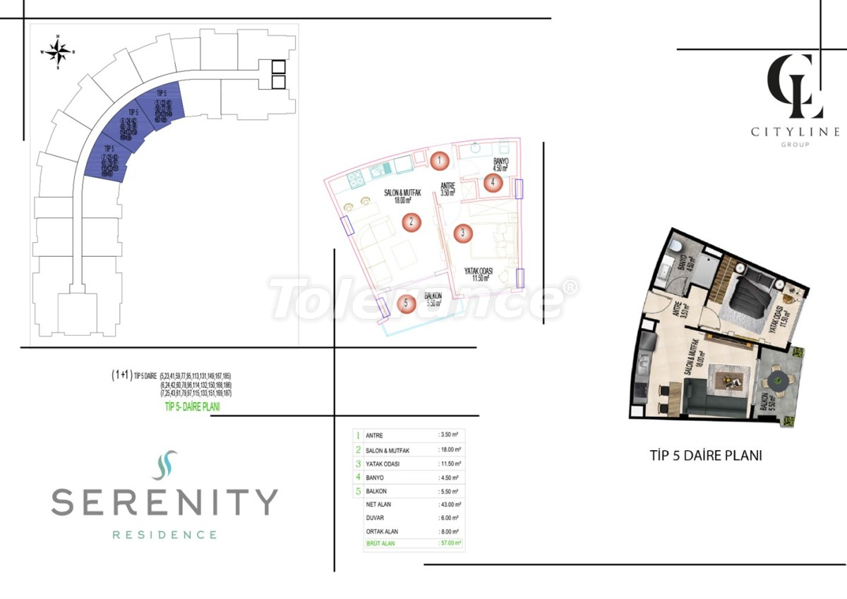 Luxury apartments  in a complex with an outdoor pool, indoor pool, sauna and fitness - 21409   Tolerance Homes