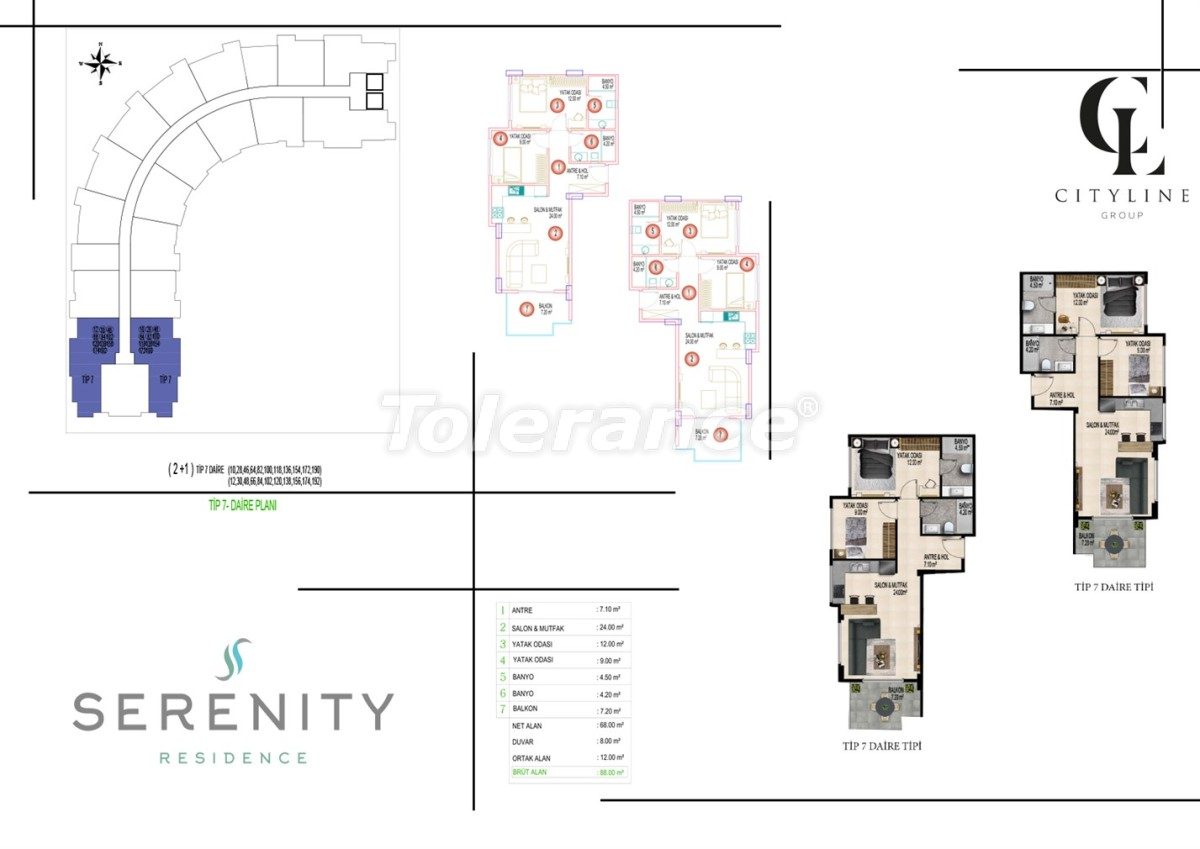 Luxury apartments  in a complex with an outdoor pool, indoor pool, sauna and fitness - 21418   Tolerance Homes