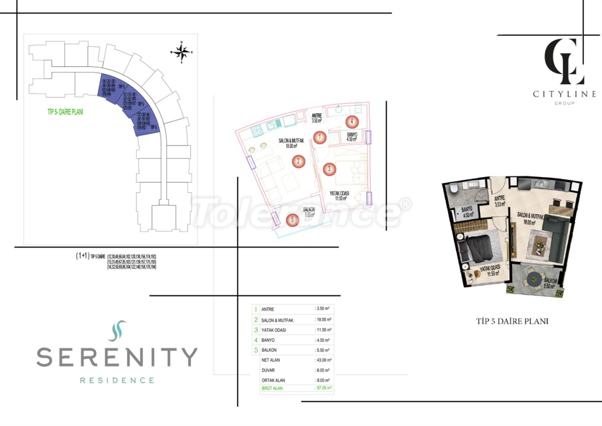 Luxury apartments  in a complex with an outdoor pool, indoor pool, sauna and fitness - 21411   Tolerance Homes