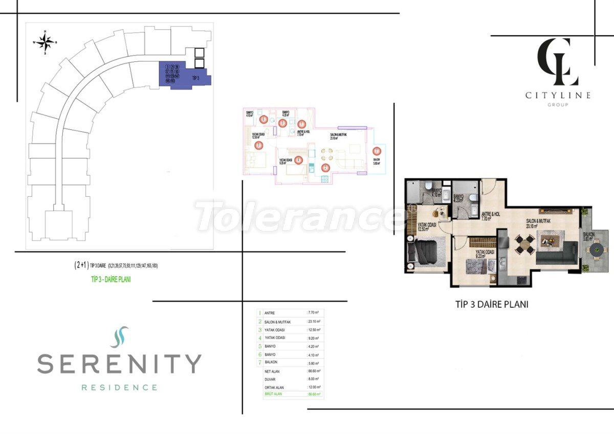 Luxury apartments  in a complex with an outdoor pool, indoor pool, sauna and fitness - 21401   Tolerance Homes