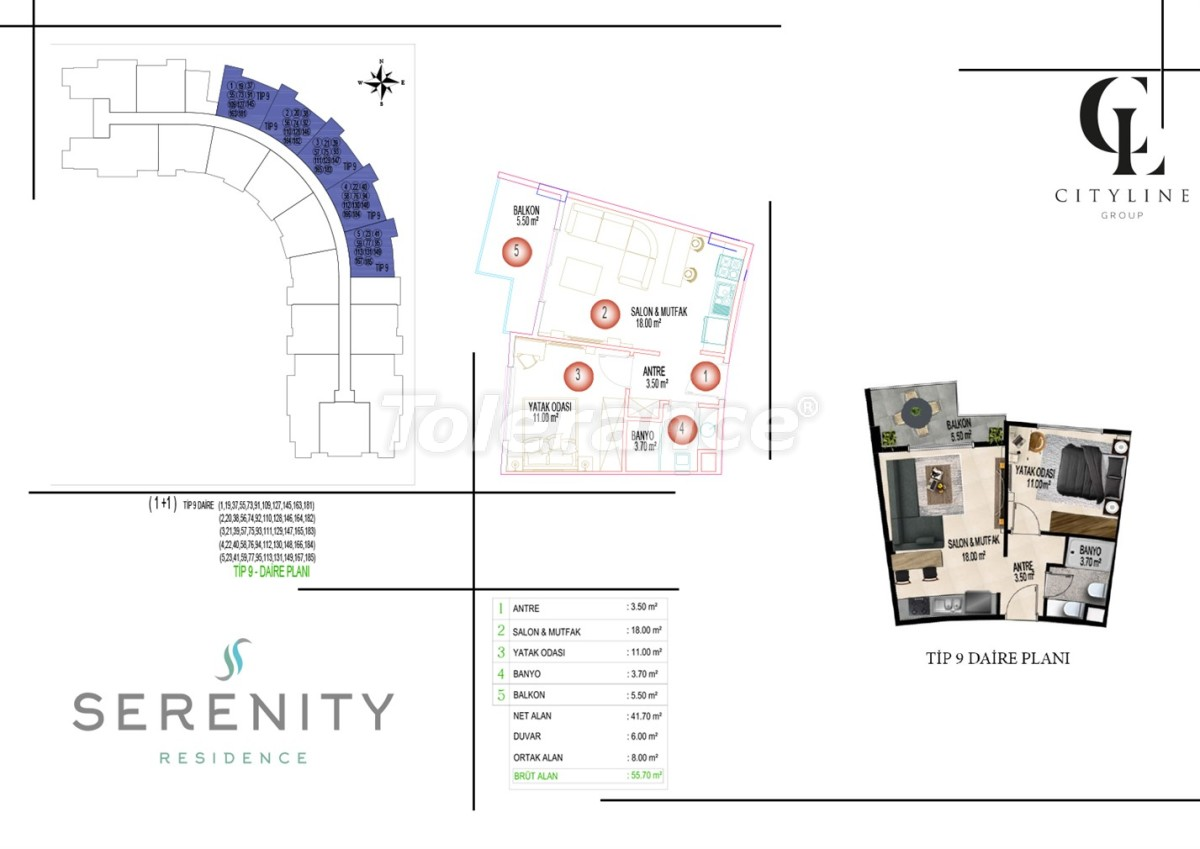 Luxury apartments  in a complex with an outdoor pool, indoor pool, sauna and fitness - 21427   Tolerance Homes