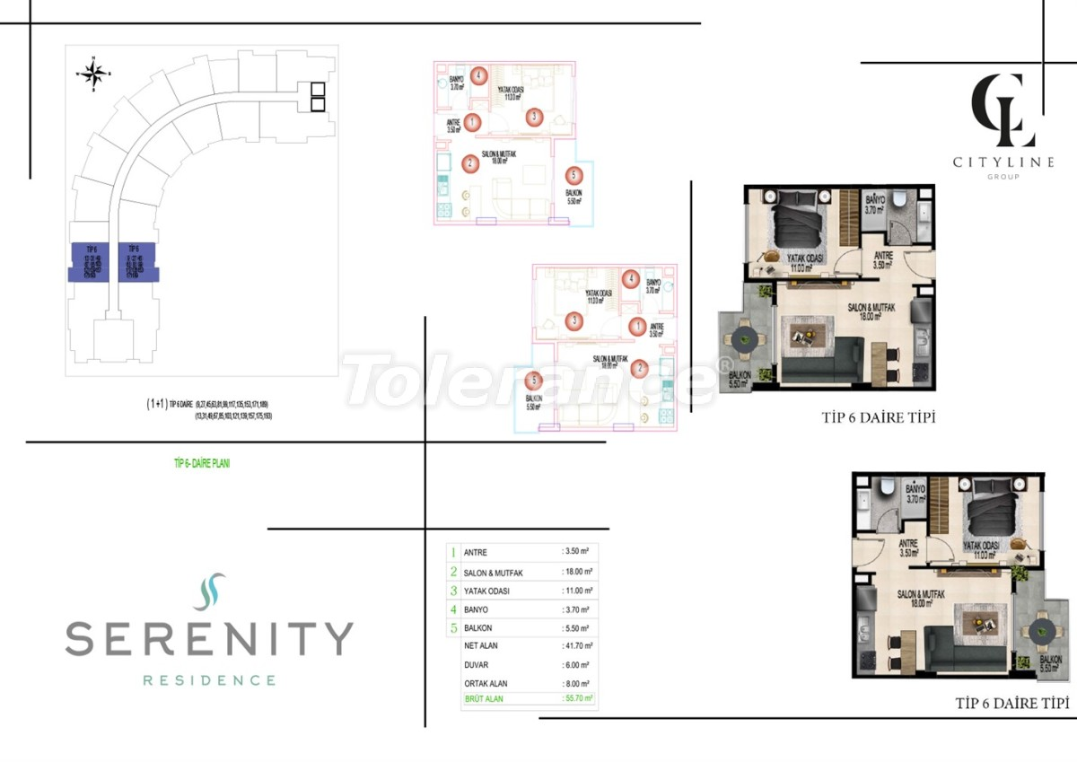 Luxury apartments  in a complex with an outdoor pool, indoor pool, sauna and fitness - 21414   Tolerance Homes