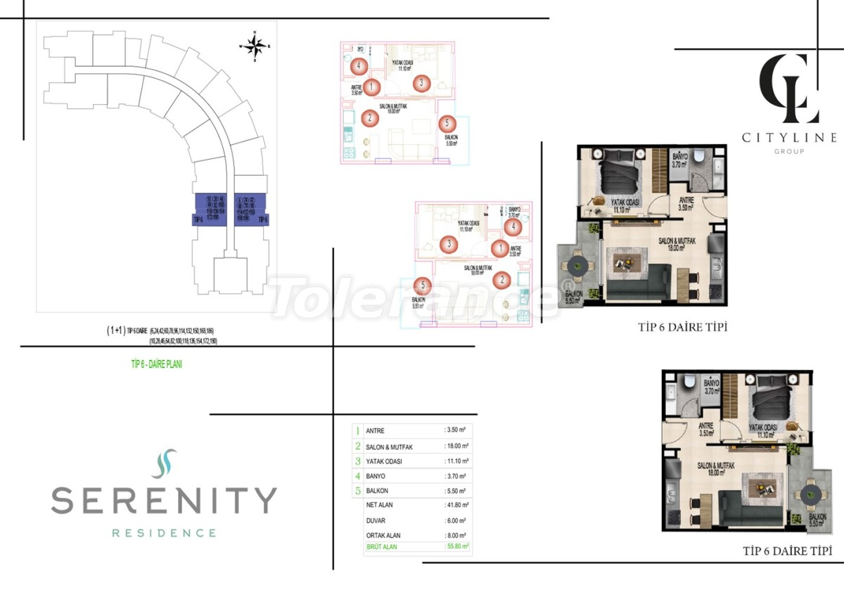 Luxury apartments  in a complex with an outdoor pool, indoor pool, sauna and fitness - 21415   Tolerance Homes