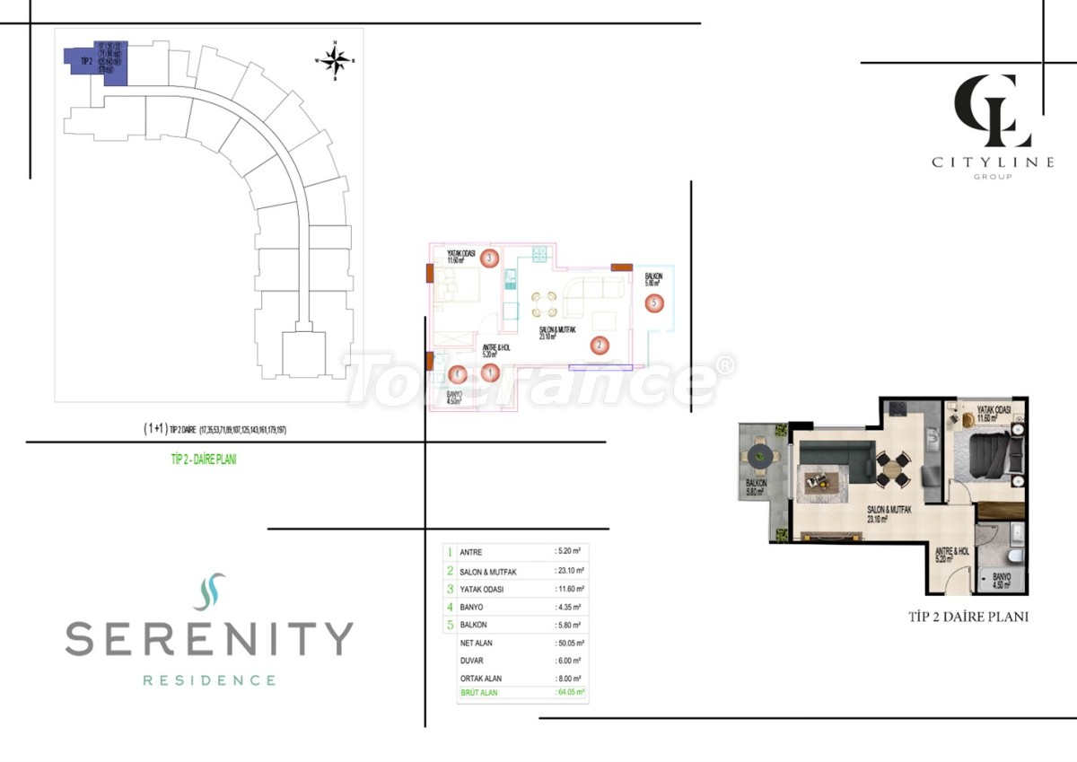 Luxury apartments  in a complex with an outdoor pool, indoor pool, sauna and fitness - 21399   Tolerance Homes