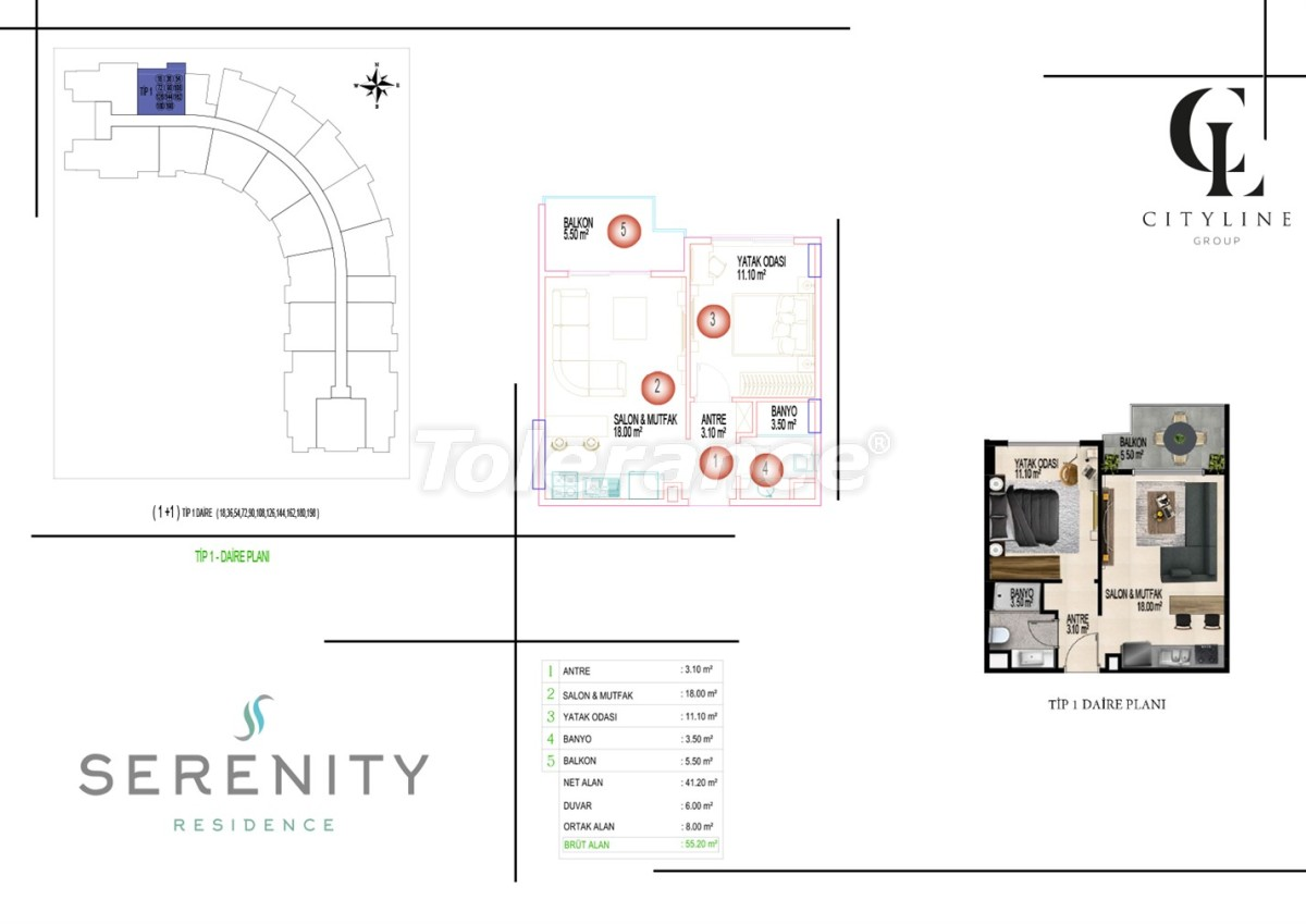 Luxury apartments  in a complex with an outdoor pool, indoor pool, sauna and fitness - 21395   Tolerance Homes