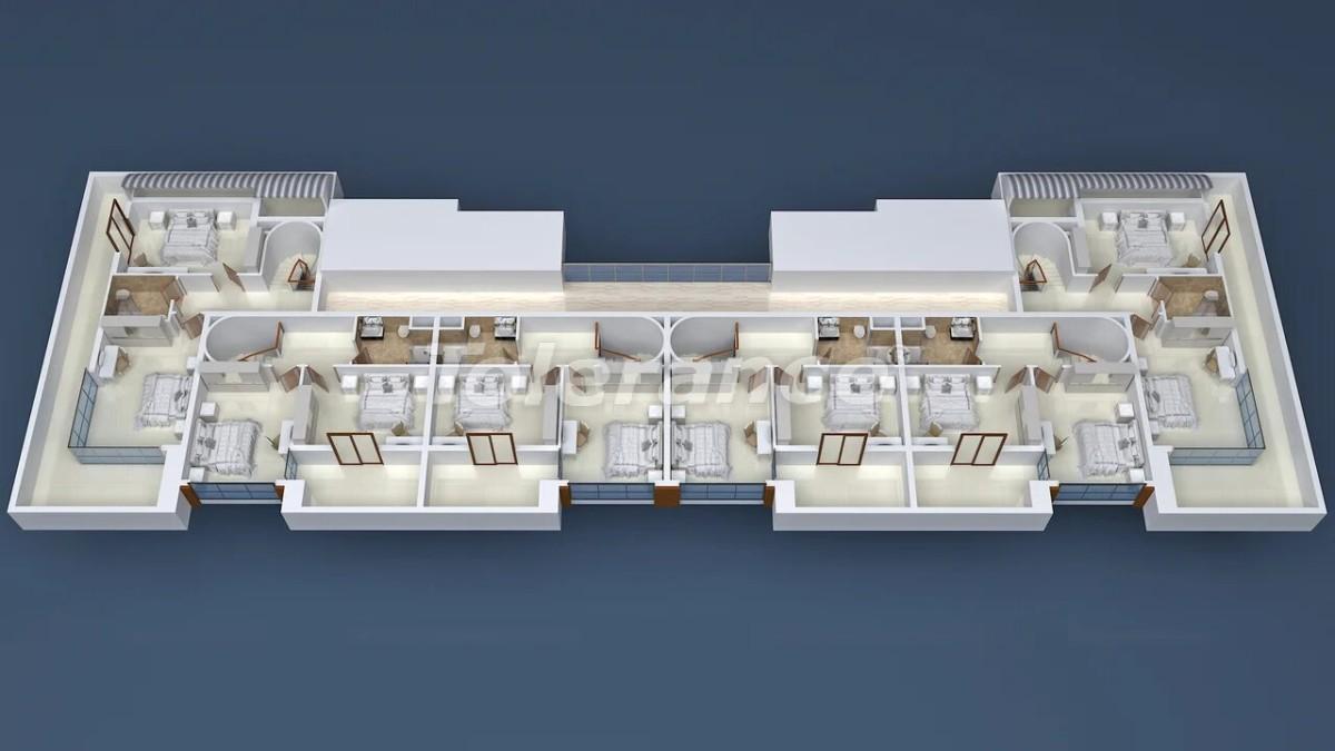 Cheap apartments in Mahmutlar, Alanya in a modern complex - 21716   Tolerance Homes