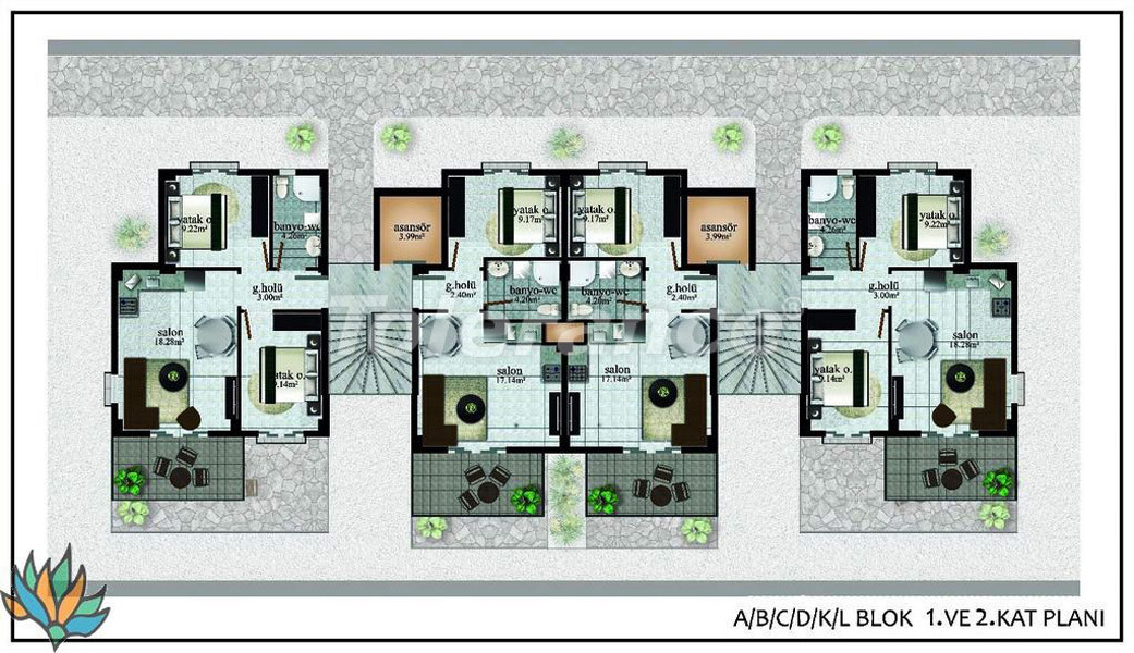 Apartments in Didim with panoramic sea views - 22001 | Tolerance Homes